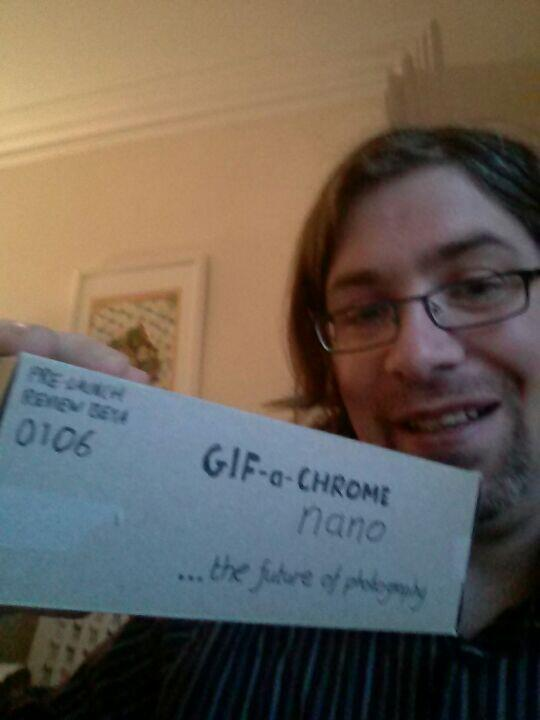 Just got a pre-release @gifachrome nano! So excited for launch day #gifachrome http://t.co/6gP8tVDrLb