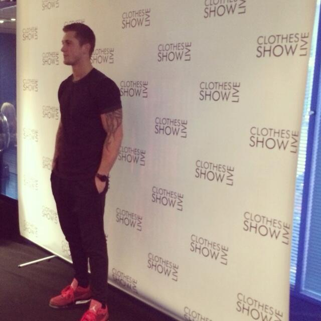 RT @ClothesShow: Who has spotted @DannyO at the show today!? #ClothesshowLive http://t.co/CTb1CckiAC
