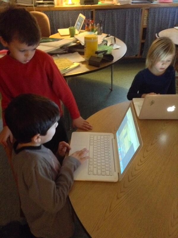 Today 1st & 2nd graders kicked off the FES Hour of Code! @Justinaboyden @FaystonSchool @ValleyReporter #HourOfCode http://t.co/XrDibqR7It