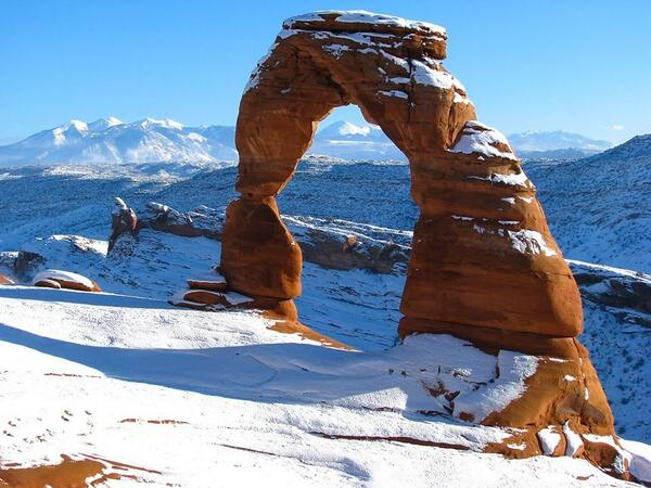 Arches National Park is a source of contrasting sights that are strangely beautiful.