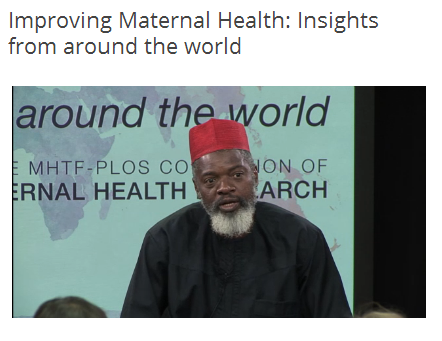 .@nosaorobaton: power of storytelling in inc awareness of maternal health issues locally & international #MHTFPLOS http://t.co/956EOx5q0K