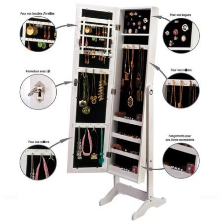 On twitter armoire range bijoux miroir le cadeau de noe - Psyche armoire a bijoux ...