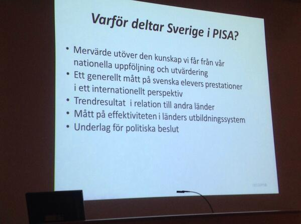 Varför deltar Sverige i #PISA2012? http://t.co/048C7HwiBm