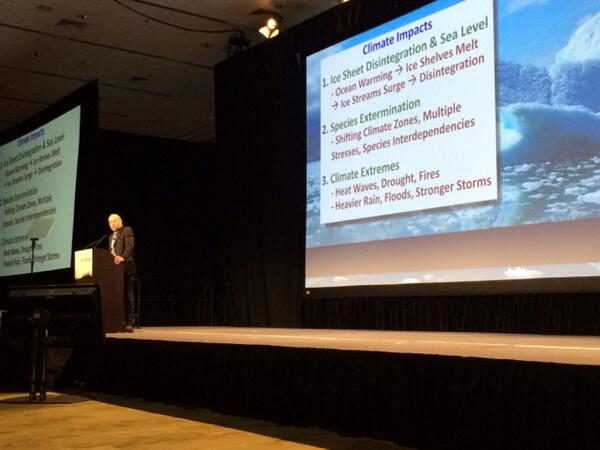 "James Hansen on ""Minimizing Irreversible Effects of Climate Change"" on now at #AGU13 http://t.co/O5sJr07x2K"