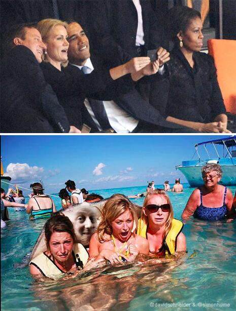 Re Cameron photobombing Obama's selfie. Internet fans may remember he's got previous (with thanks @simonhume) http://t.co/60WbYBHTSS
