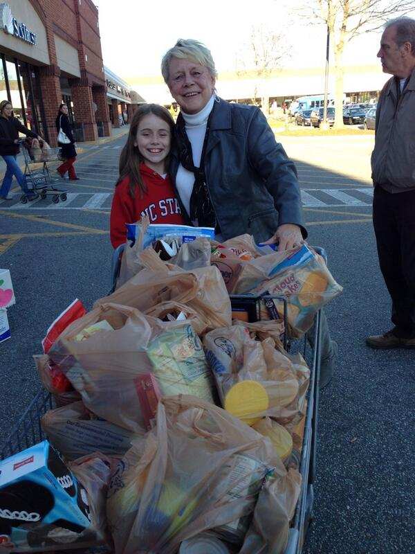 "Incredible moment! ""@mbalbo: Lilly & Gramma shopped then donated it all to the #ABC11 Food Drive.  #HeartOfCarolina http://t.co/01g2V1Xq1a"""