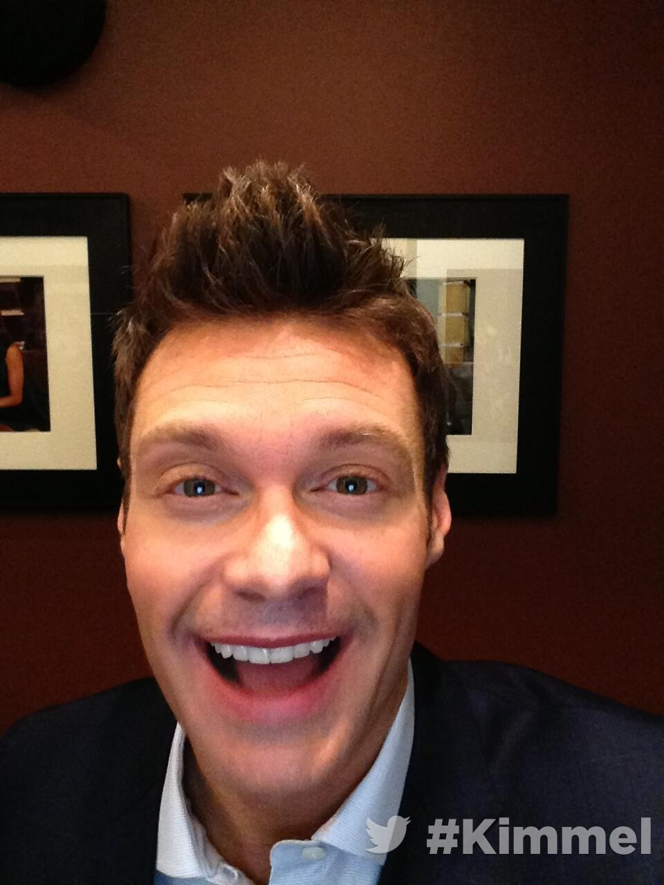RT @JimmyKimmelLive: Backstage at #Kimmel Tune in tonight 11:35/10:35c on ABC  with @RyanSeacrest http://t.co/UVQCTmU8XD