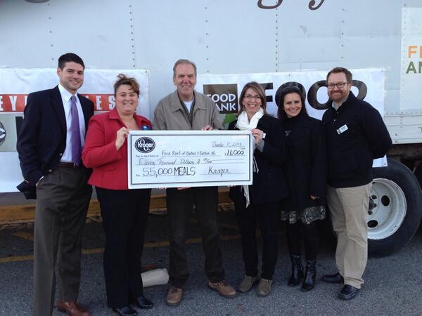 55,000 meals! Kroger rocks!#abc11 #HeartOfCarolina http://t.co/9a7JH57mXh