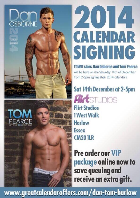 Meet me & @DannyO in Harlow this Sat 14th Dec where we will be Signing copies of our 2014 Calendars! http://t.co/YQvL0Gn8YK
