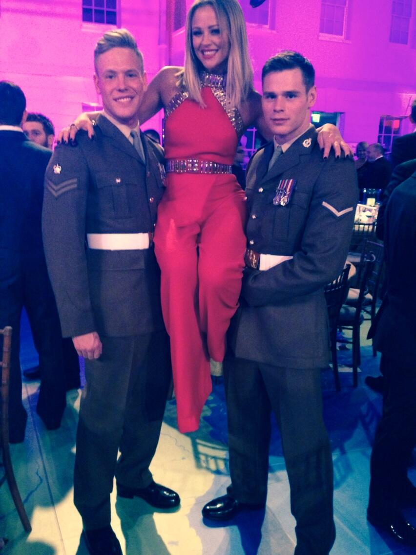 Trying out a few strictly moves..... So honoured to meet you guys. Thanks for a lovely evening #themillies http://t.co/74OBzIq4E0