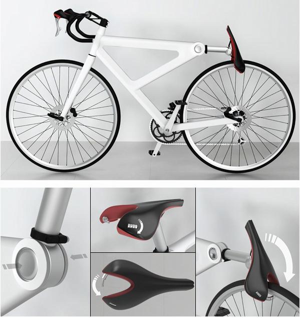 サドルが鍵になる自転車