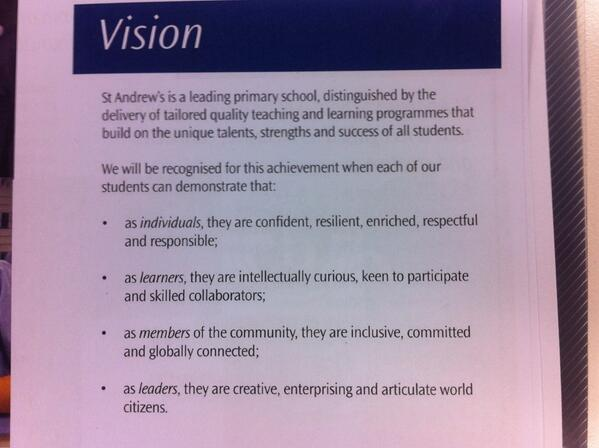 Our school vision #sasvisionyear6 @paulhuebl @anderspearz let's discuss http://t.co/rSl7ahW9CJ