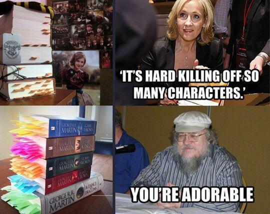 """It's hard killing off so many characters."" http://t.co/VzZeLDt9yJ http://t.co/xNl39md3wC"