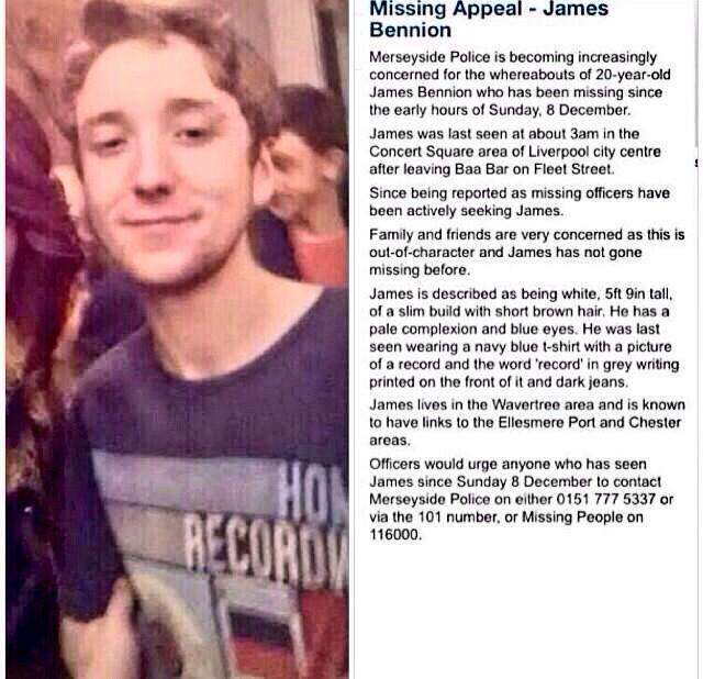 RT @laurenpor: @DuncanBannatyne PLEASE RT AND HELP FIND MISSING JAMES BENNION http://t.co/91UDp909Rw