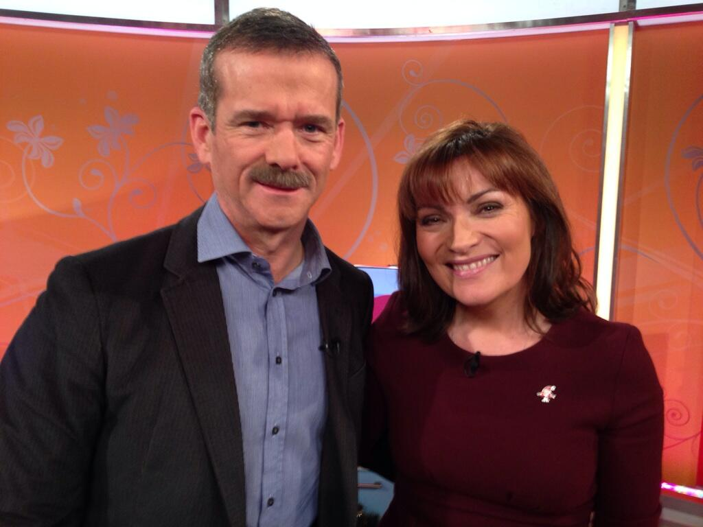 With @Cmdr_Hadfield this morning - Canada's finest - singing spaceman and all round top bloke! http://t.co/yI6dTEDObq