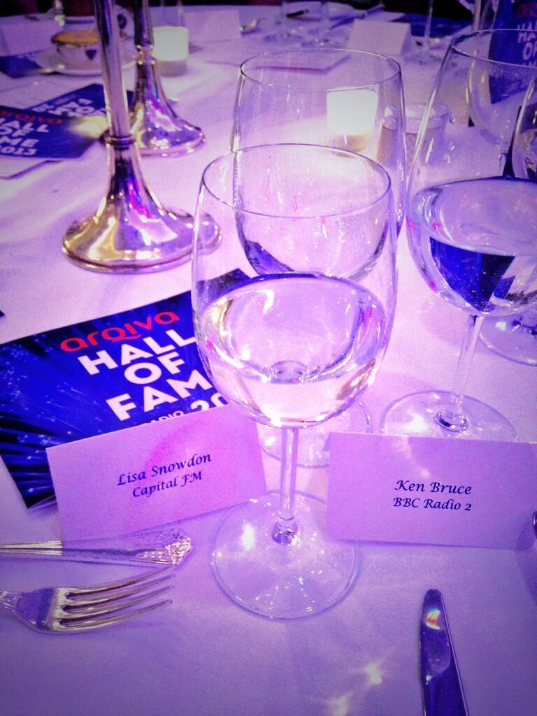 Having a lovely lunch with @RealKenBruce about to co-host with the legend at #Arqiva #halloffame http://t.co/sKR7qhZ69b