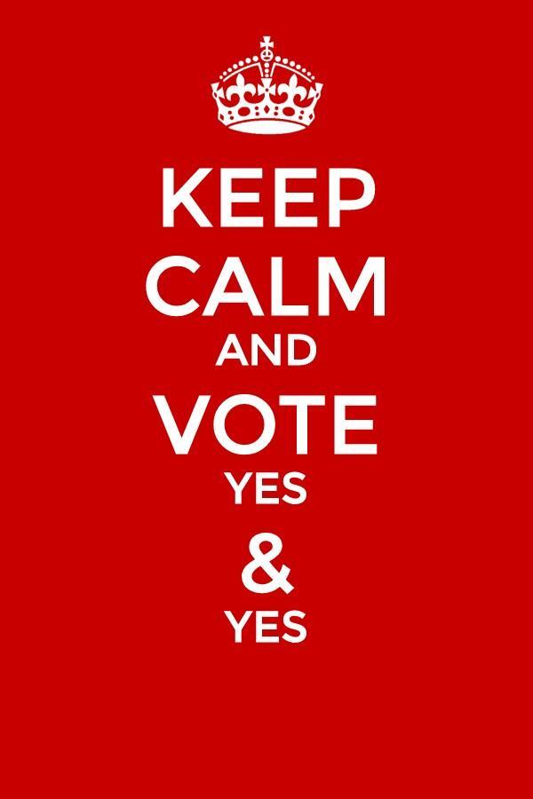 Keep calm and vote yes & yes #lapregunta #sísí #9N2014 http://t.co/WkY5jKn0CM
