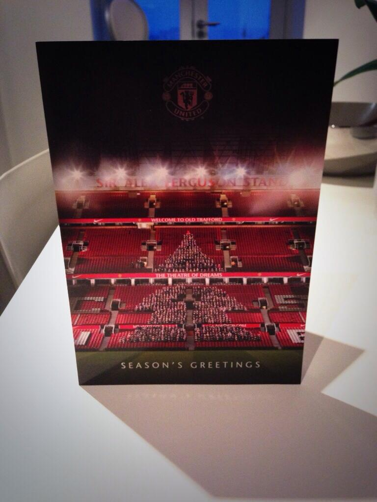 Thank you for the card @manutd @mu_foundation. Here's to a white and RED Christmas... http://t.co/Gg5aR2NuxA