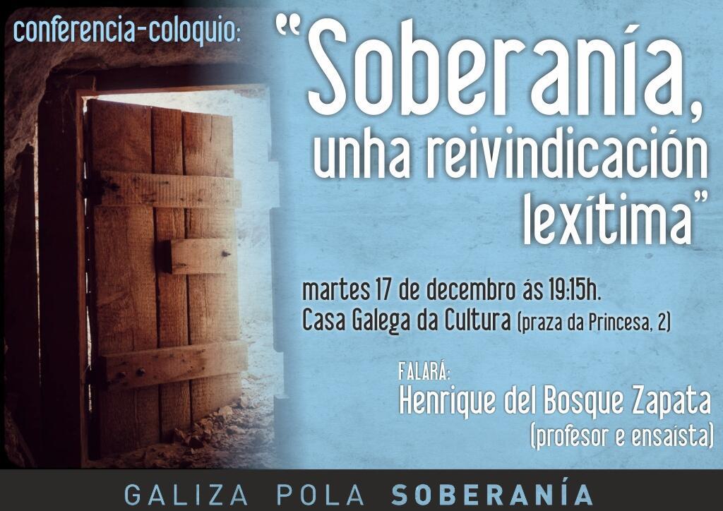 Twitter / gpsoberania: Conferencia-coloquio en Vigo ...