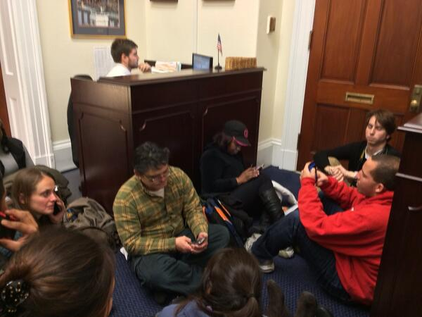 Advocates wait to speak with Cantor, but he's nowhere to be found. #TimeisNow http://t.co/blgKcjDwlw
