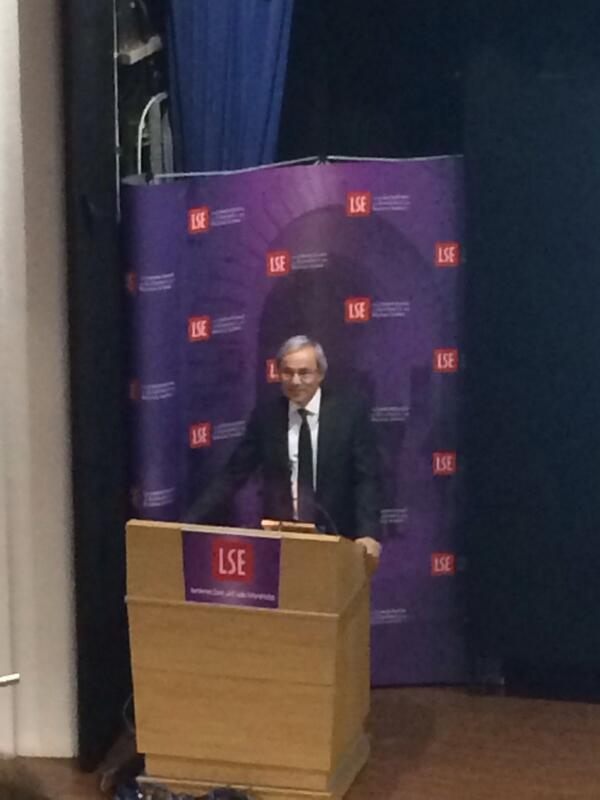 'Is Europe working?': Nobel prize winning economist Professor Sir Pissarides at the #LSE tonight #LSERegius #fb http://t.co/vb7fIwWi6j