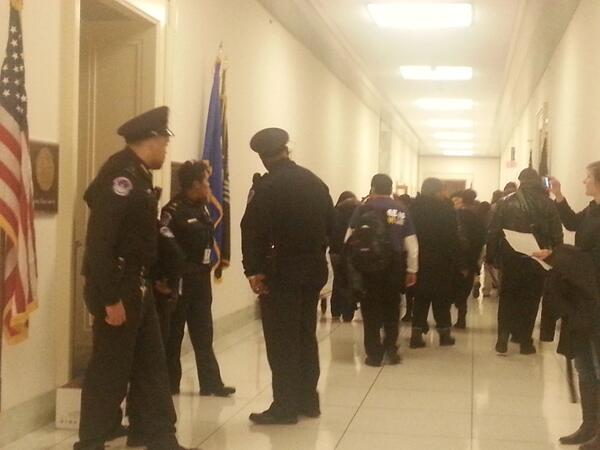 Capitol police escorting dozens demanding #immigration reform out of @MicheleBachmann office. #timeisnow http://t.co/RFbrqCIWf7