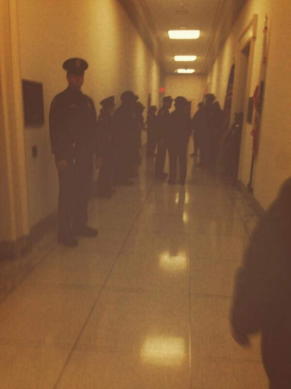 Not the best picture but look at all the capitol police they sent for us. My. Lord.   #TimeIsNow http://t.co/sWeyjMw20n