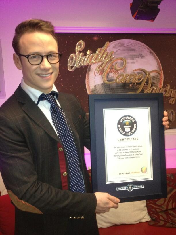 I get to dance with a Guinness World Record holder.....Congratulations @keviclifton http://t.co/VS3eJel5ex