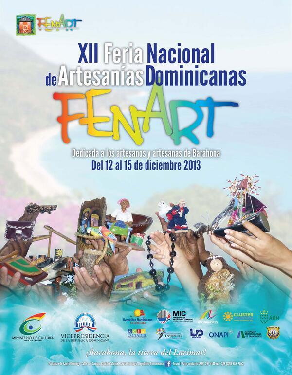 Hoy, @MinculturaRD y #Prosoli participan de la XIl Feria Nacional de Artesanía. http://t.co/kh7j5l38MJ
