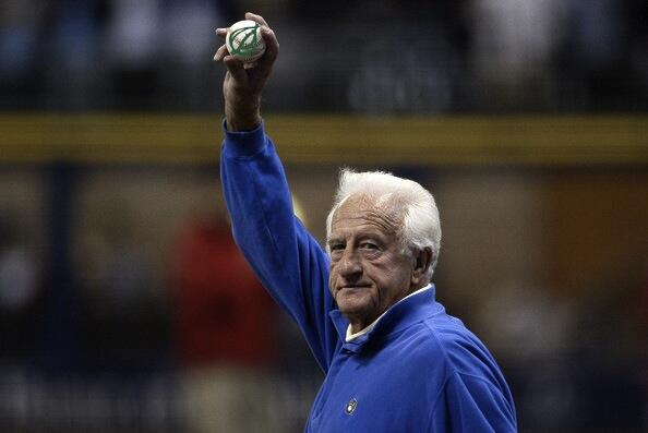 Because it's 5 o'clock and our final issue is out now, here's a picture of Bob Uecker waving goodbye. #UeckerOClock http://t.co/un5iTxy3NK