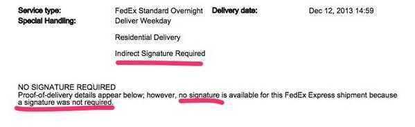 remove signature required fedex