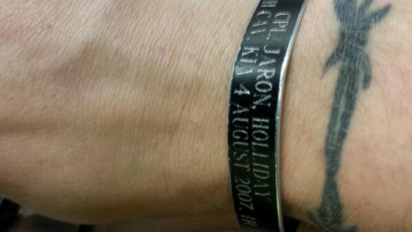 @DierksBentley since my partner died.in iraq in front of me I havent taken this off and never will  #IHoldOn http://t.co/X3QuTAHv0k