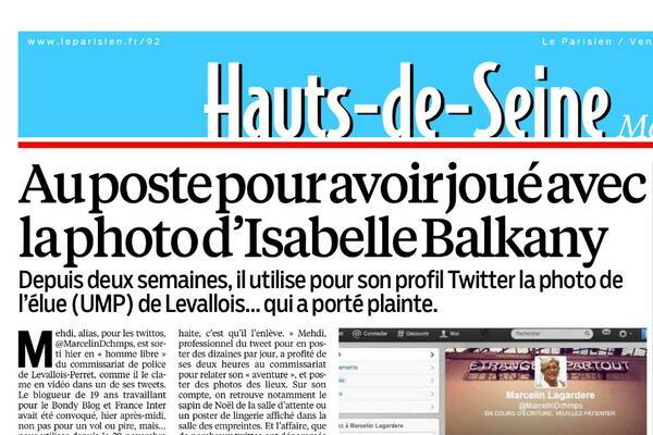 #OnlyIn92 : La une du #LeParisien_92 de ce vendredi : au poste pour crime de lèse #Balkany !pic.twitter.com/F1PenTpWrh