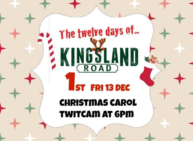 Mistletoe Kisses Guaranteed! Tonight at 6pm #12DaysOfKingslandRoad http://t.co/ifNgt1Lkhv
