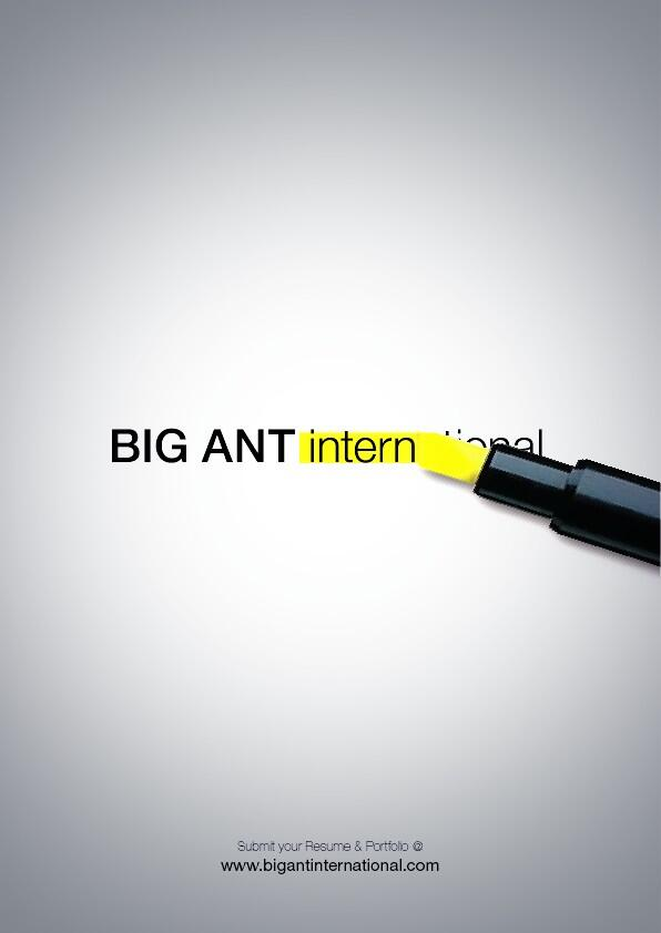 BIG ANT 인턴은 항상 지원 받습니다~ bigant@BIGANTintl.com 으로 이려서와 포트폴리오 접수하면 review 후 개별 연락 드립니다~ 전공학과 및 업무분야 제한 없습니다~ http://t.co/MbXip01efq