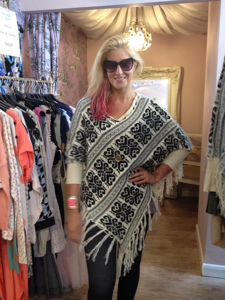 RT @AmeliasAttic: Get @Cheska85 's poncho online or in store now £60. Mail order 01548 844445 http://t.co/q94UnJeZAR