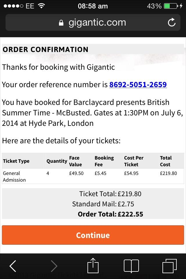 RT @ashikaxLR: @Dannymcfly @JamesBourne #BSTHydePark I got tickets!! I'm so excited 😁😁! http://t.co/vQaZ9SA79r