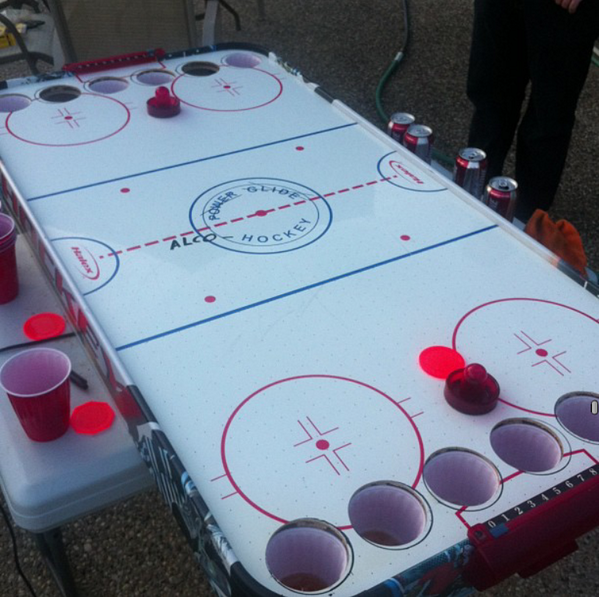 Canadians have invented a better beer pong. Ladies and gentlemen, meet Alcohockey: http://t.co/lOn3JEoH8w http://t.co/B0KFzbzS0U @sjk258