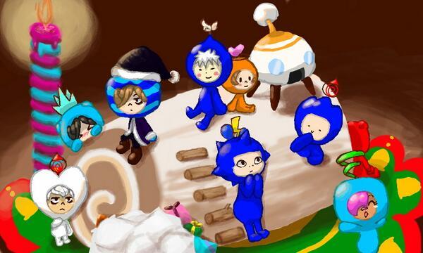 【電波人間のクリスマス:1】竜巻の助さんのイラスト