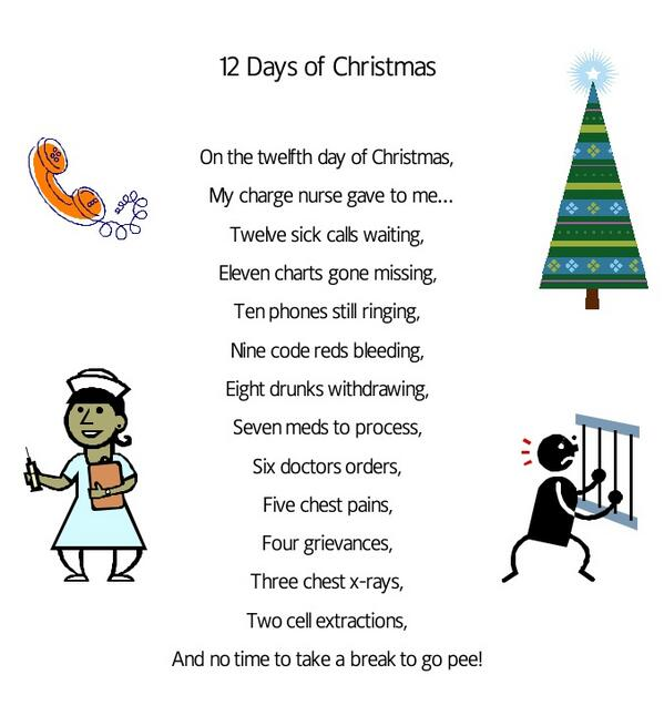 Nurses 12 Days Of Christmas