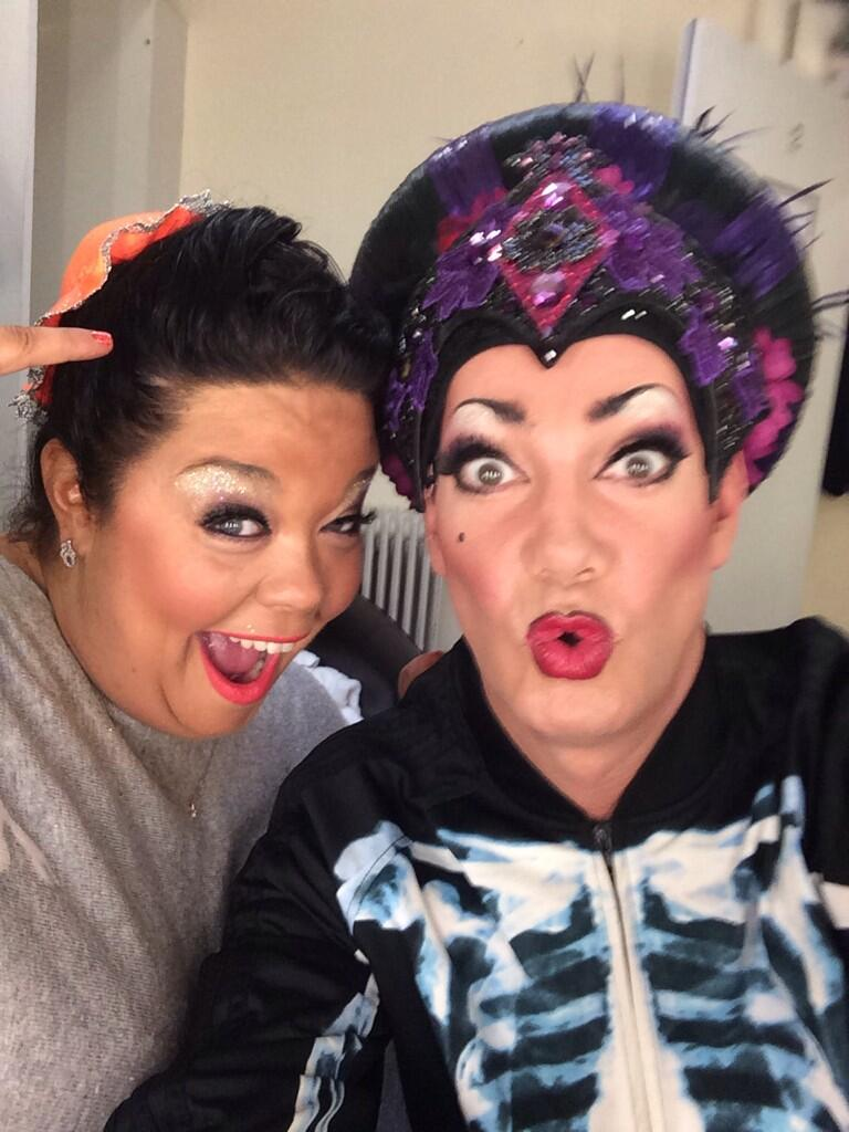 Lisa and me! Panto opens tonight!!!!! http://t.co/PugNSNwdHn