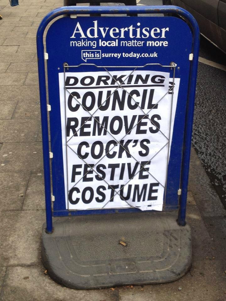 RT @samblackledge: Surely a contender for newspaper bill of the year from the mighty Dorking Advertiser http://t.co/sCgH0wsTcg @thejeremyvi…