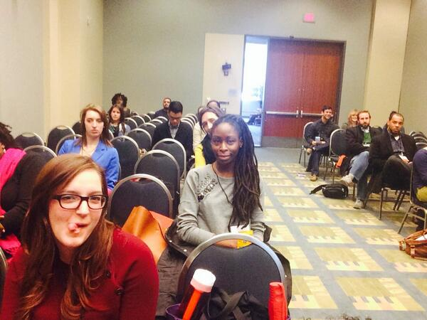 This is what @MalindaFrevert thinks of people who think @beyonce can't be A feminist #beyoncepanel #roots13 http://t.co/6760ORCrAy