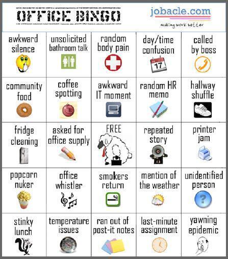 Resourcing Edge On Twitter Friday Office Humor Office Bingo