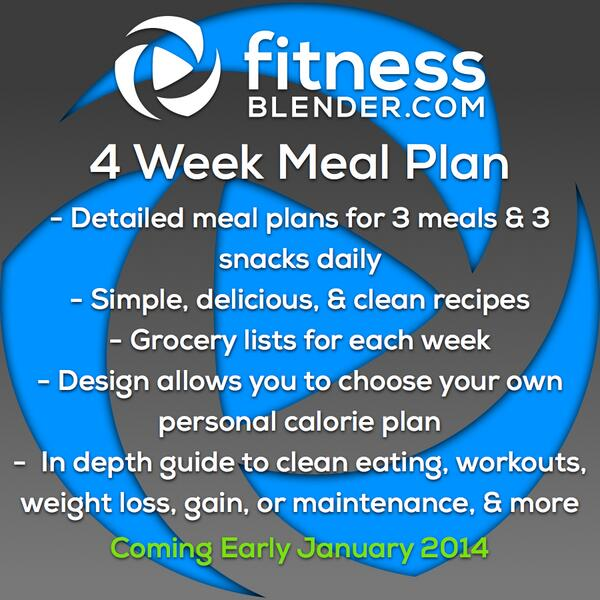 Fitnessblender Meal Plan Pdf