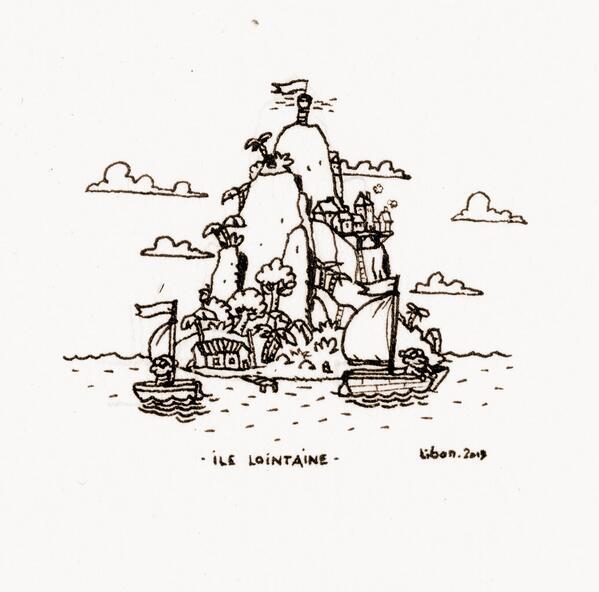 Libon on twitter micro dessin d 39 une micro ile lointaine - Dessin d une ile ...