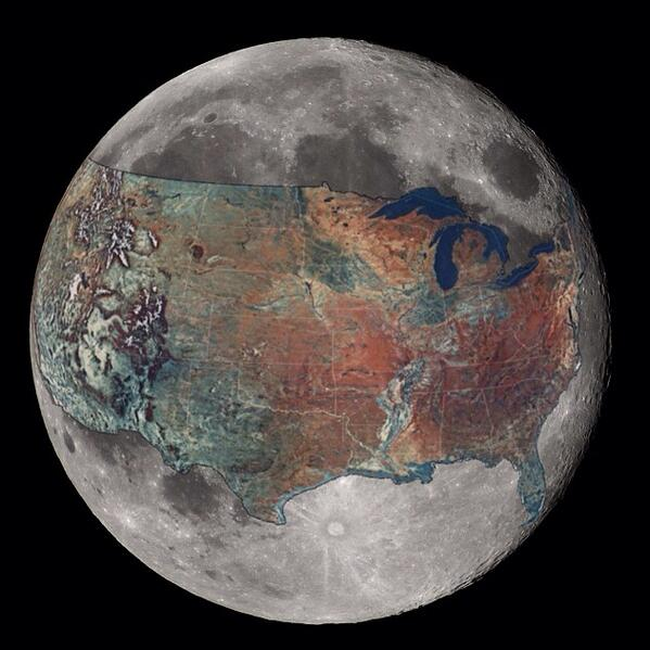 How big is the moon? Image credit: http://t.co/B2YXhUNFNR #moon #space #STEM #spacetweeps http://t.co/cb6053zTTN