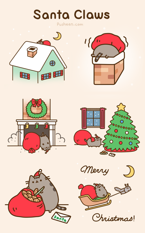 Pusheen Christmas.Pusheen The Cat On Twitter Santa Claws Http T Co