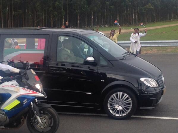 Journey near an end #Mandela http://t.co/heIMKmomjV