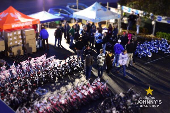 A great rooftop view of the Bikes for Kids bikes. http://t.co/2CCfu0dVoo